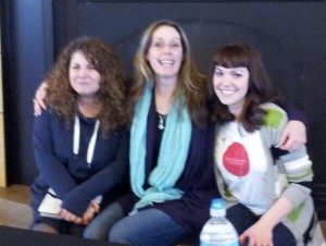 Figure 1. Me, Laurie Halse Anderson & Amy Oelkers of the Red Balloon Bookshop