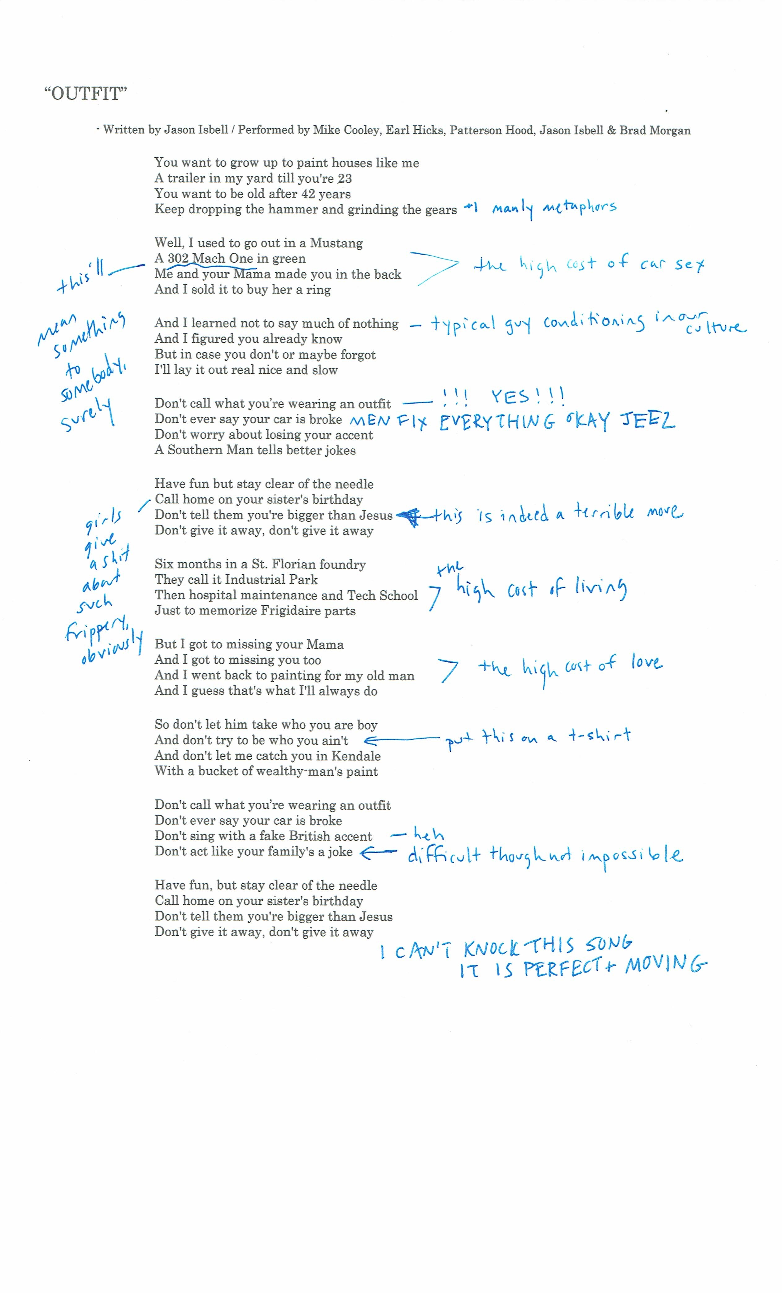 Anatomy of a Country Music Song Part VIII